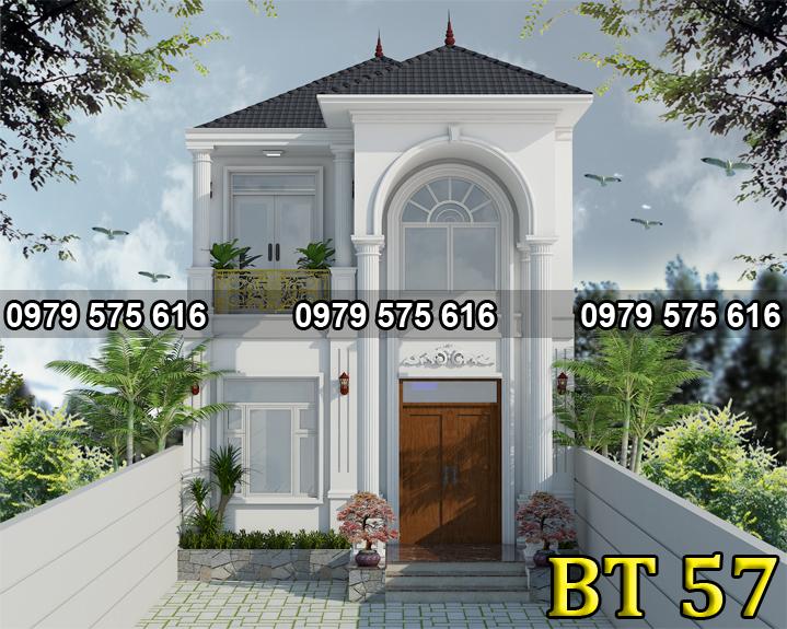 thiet ke biet thu mai thai 2 tang (6.5x15m)