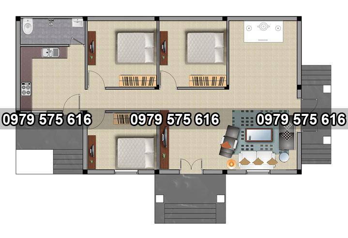 tổng hợp các mẫu thiết kế nhà cấp 4 đẹp5