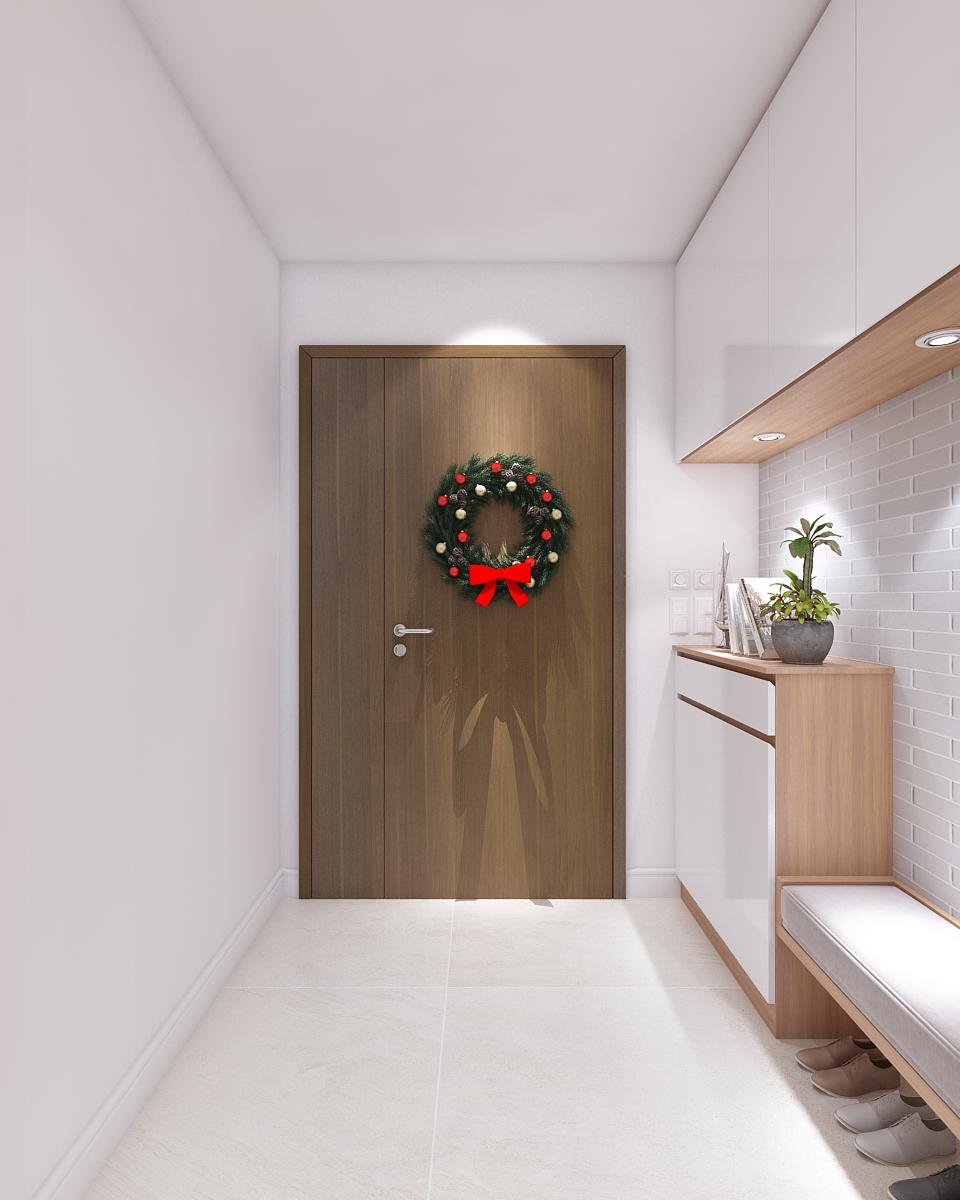 thiết kế nội thất phòng khách và phòng bếp hiện đại cho biệt thự1
