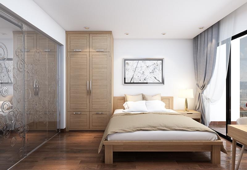 thiết kế nội thất chung cư 1 phòng khách, 1 phòng bếp và 3 phòng ngủ1